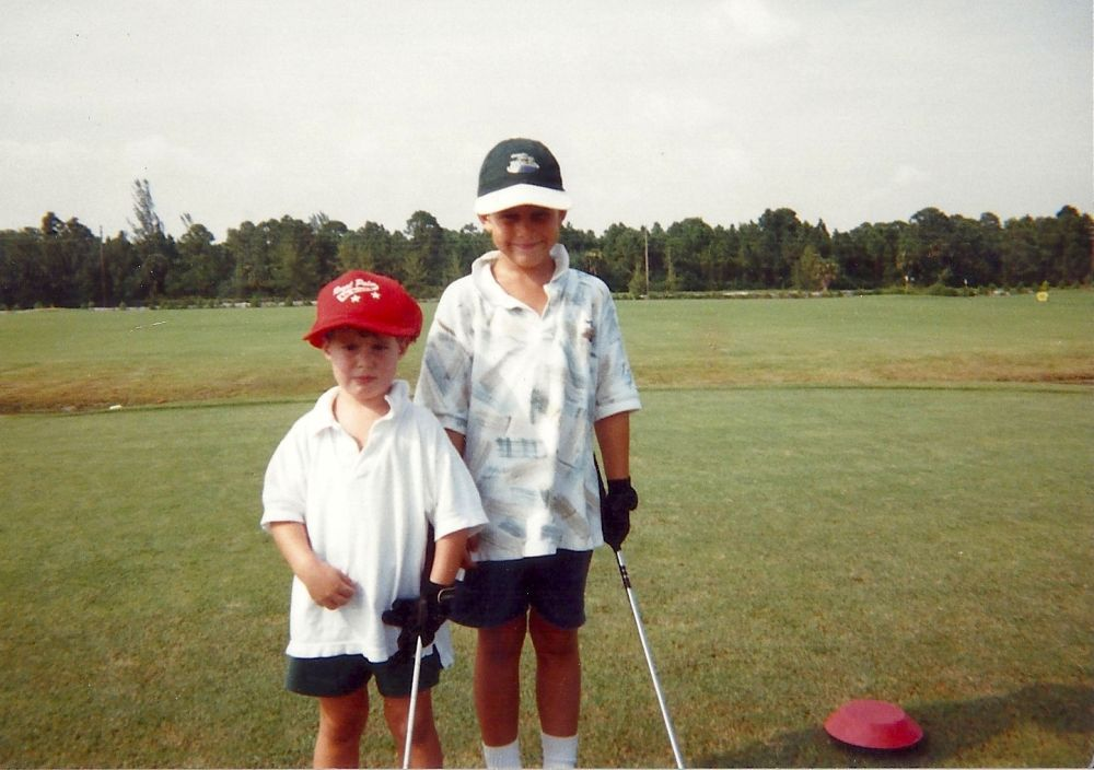Brooks Koepka with his brother Chase.