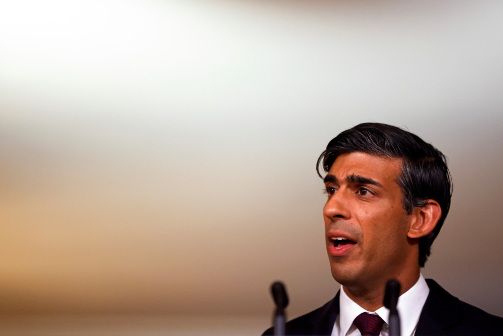 Britain's Chancellor of the Exchequer Rishi Sunak speaks during a virtual news conference, amid the spread of the coronavirus disease in London, Britain September 24, 2020. — Reuters pic