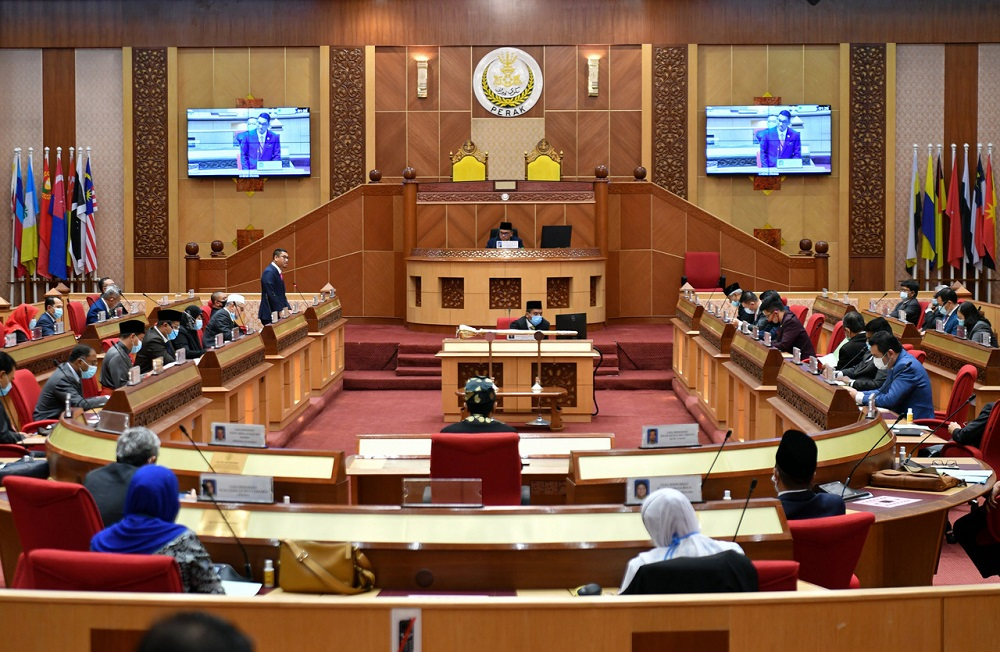 The Perak state assembly will be held for three days this week from August 25 to 27 and will be continued on the following week for one day on August 30. — Bernama pic