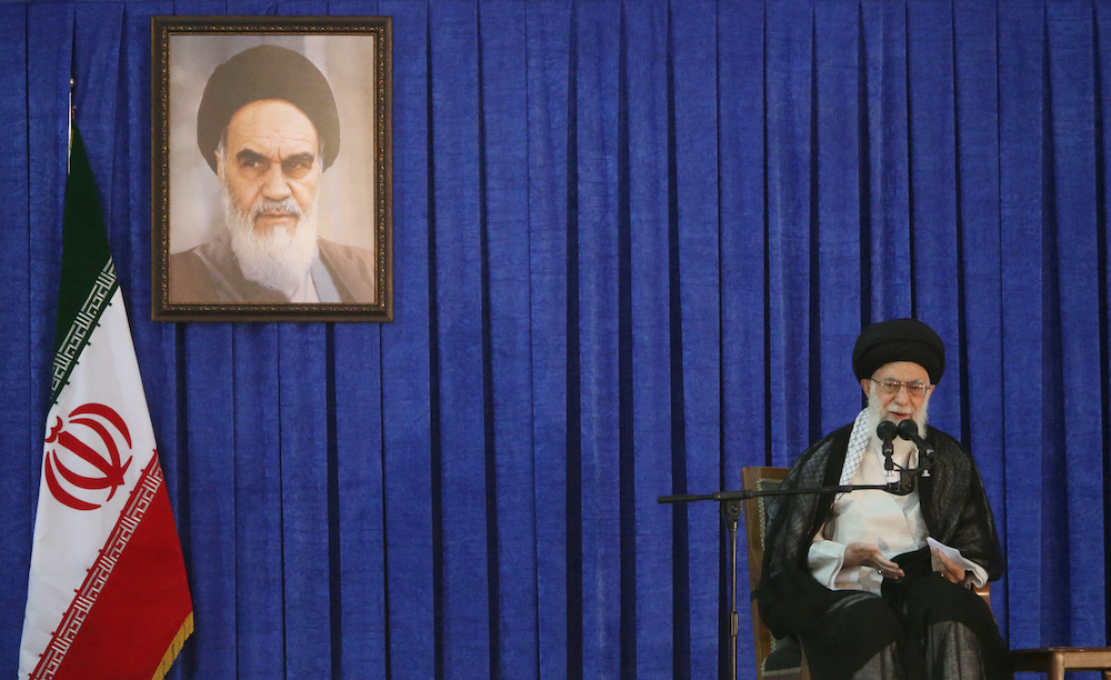 File photo of Iran's Supreme Leader Ayatollah Ali Khamenei delivers a speech during a ceremony marking the death anniversary of the founder of the Islamic Republic Ayatollah Ruhollah Khomeini, in Tehran, Iran, June 4, 2017. ― Reuters pic