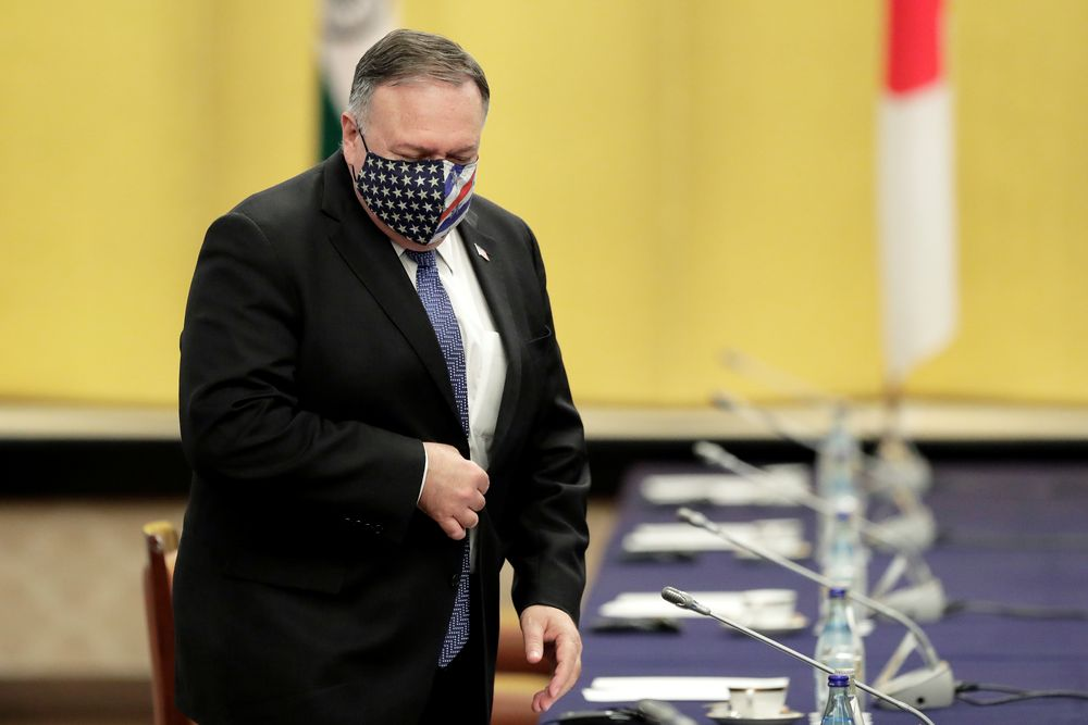US Secretary of State Mike Pompeo attends a meeting in Tokyo, Japan October 6, 2020. — Kiyoshi Ota/Pool pic via Reuters