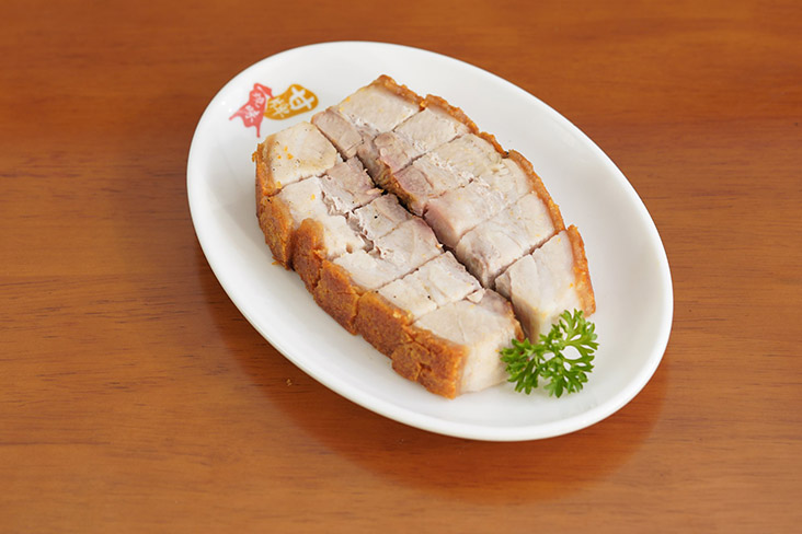 Crispy roast pork is also available on its own or in single portions with a choice of rice or noodles
