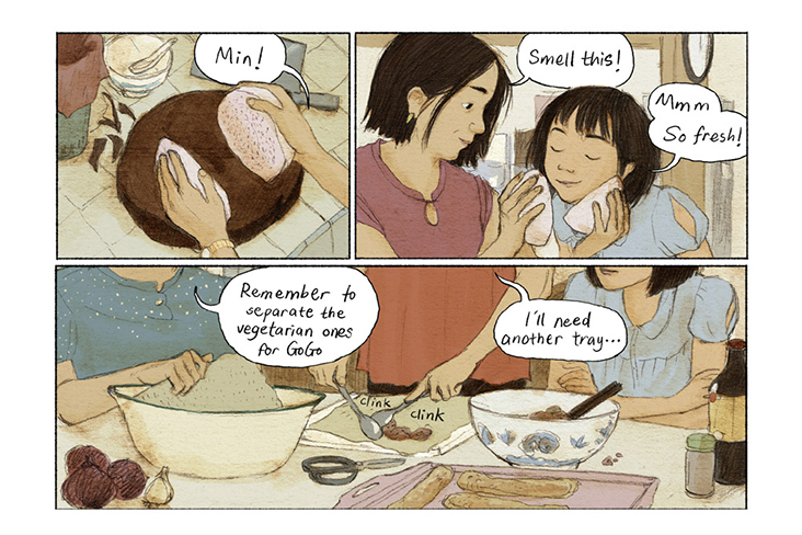 Family life features greatly in Eng's 'Fried Rice' webcomic.