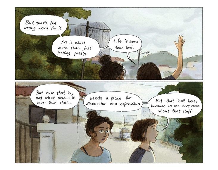 'Life is more than that' – a page from 'Fried Rice'.