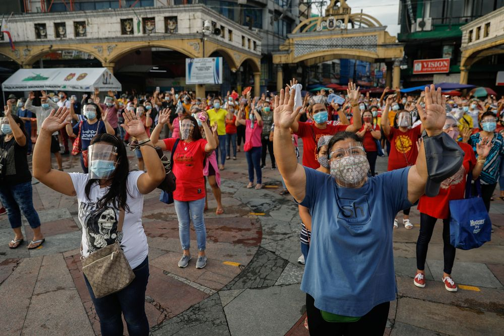 The Southeast Asian country has seen new daily cases surge, mostly in the capital Manila. — Reuters pic