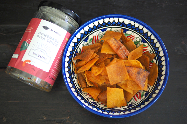 One of the items from their Rollin' In The Dip group meal delivery is their addictive homemade shawarma flavoured pita chips.