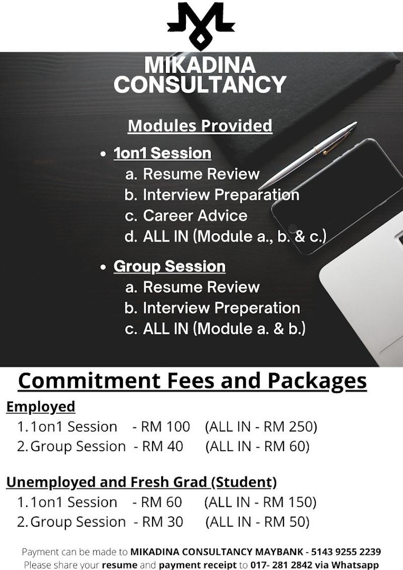 这是各种线上课程的费用。-Abdul Khaliq Putra提供-