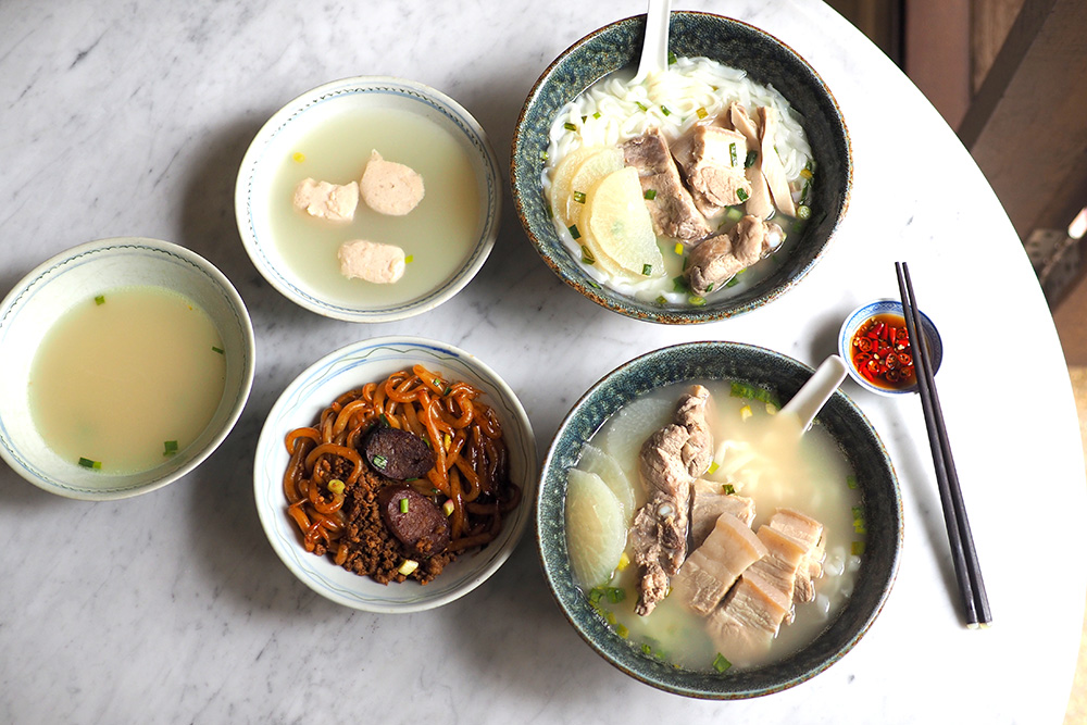 Start your day with a bowl of Emperor pork bone or 'sambo' noodles and 'sam kang chong' noodles from Sun Huat Kee. — Pictures by Lee Khang Yi