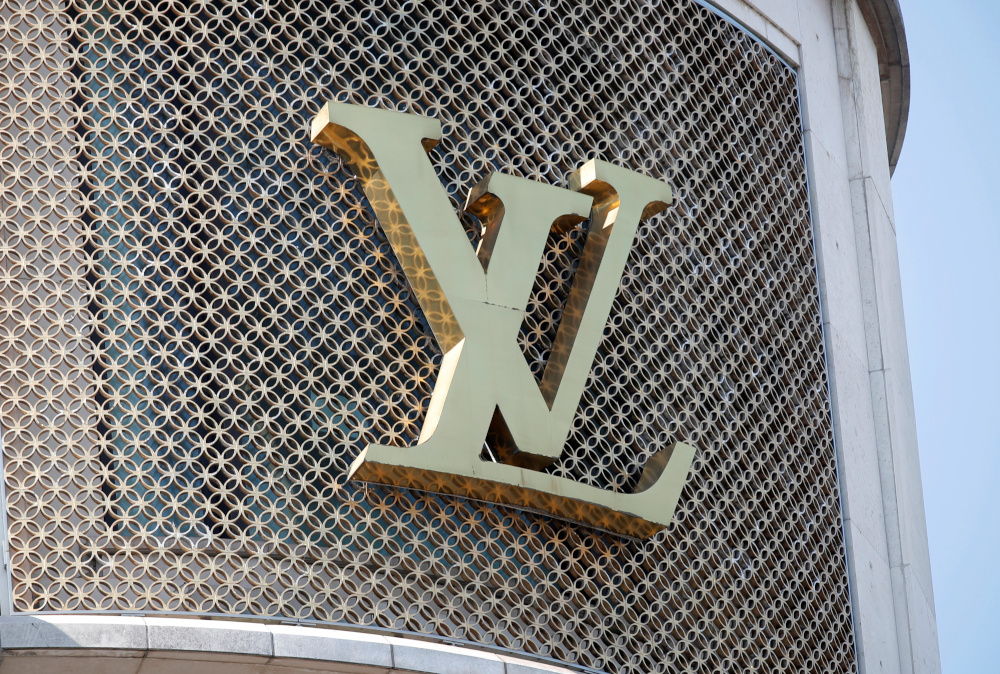 A Louis Vuitton logo is seen outside a store on the Champs-Elysees in Paris, France, September 18, 2020. — Reuters pic