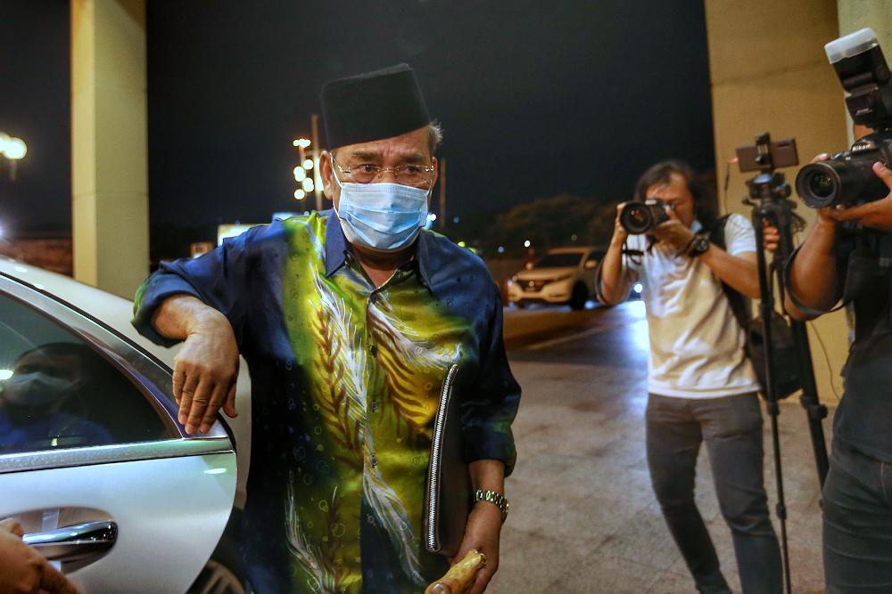 Umno Supreme Council member Datuk Seri Tajuddin Abdul Rahman is pictured at Menara Dato' Onn for an Umno Supreme Council meeting October 26, 2020. — Picture by Ahmad Zamzahuri