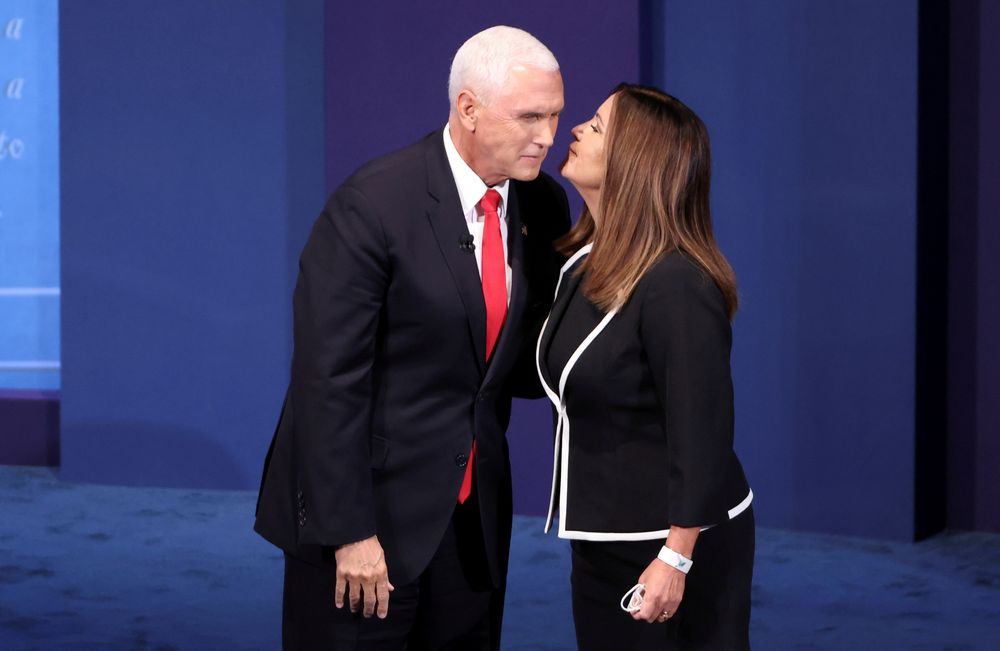 US Vice President Mike Pence and his wife Karen Pence tested negative for Covid-19 over the weekend. — Reuters pic