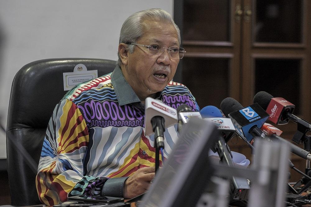 Federal Territories Minister Tan Sri Annuar Musa speaks during a press conference at Menara Seri Wilayah in Putrajaya October 15, 2020. — Picture by Shafwan Zaidon