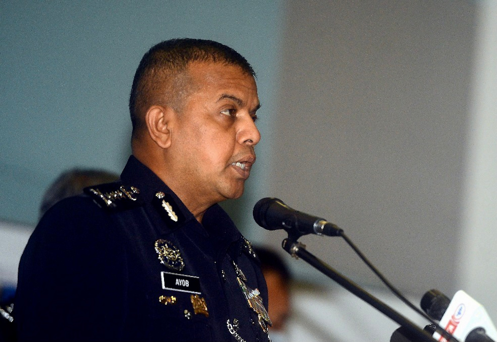 Johor police chief Datuk Ayob Khan Mydin Pitchay said all the suspects, who are illegal immigrants, have been placed under the Prevention of Crime Act (POCA) 1959. — Picture by Ben Tan