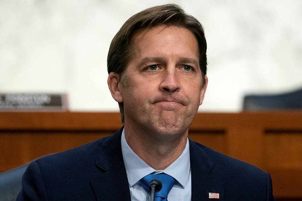 US Senator Ben Sasse speaks during the Senate Judiciary Committee confirmation hearings for Supreme Court nominee Judge Amy Coney Barrett on Capitol Hill in Washington October 14, 2020. — Pool pic via Reuters