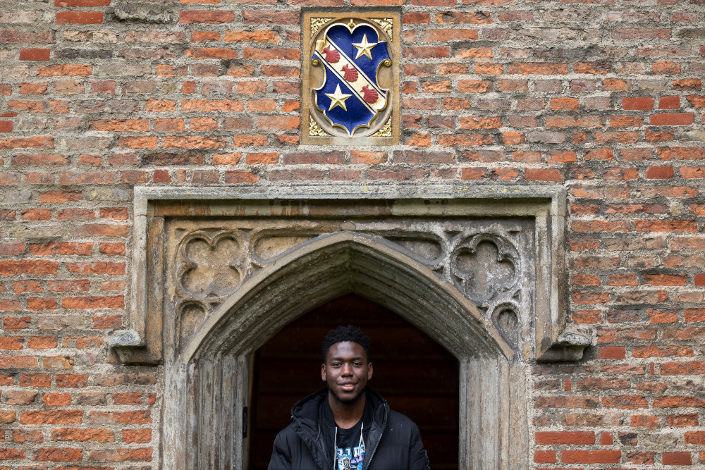 Cambridge engineering student Matthew Omoefe Offeh poses for a portrait at Cambridge University in Cambridge, October 14, 2020. — AFP pic