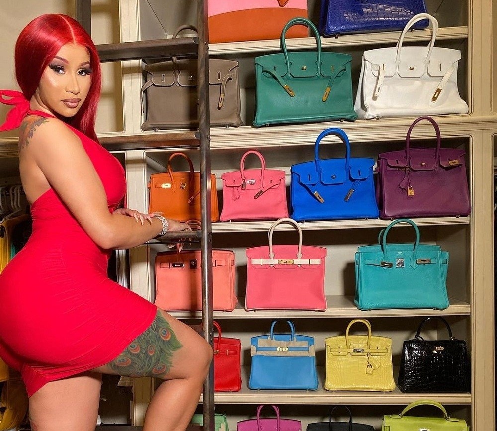 The 'I Like It' rapper with her Birkin collection. ― Picture via Instagram/Cardi B