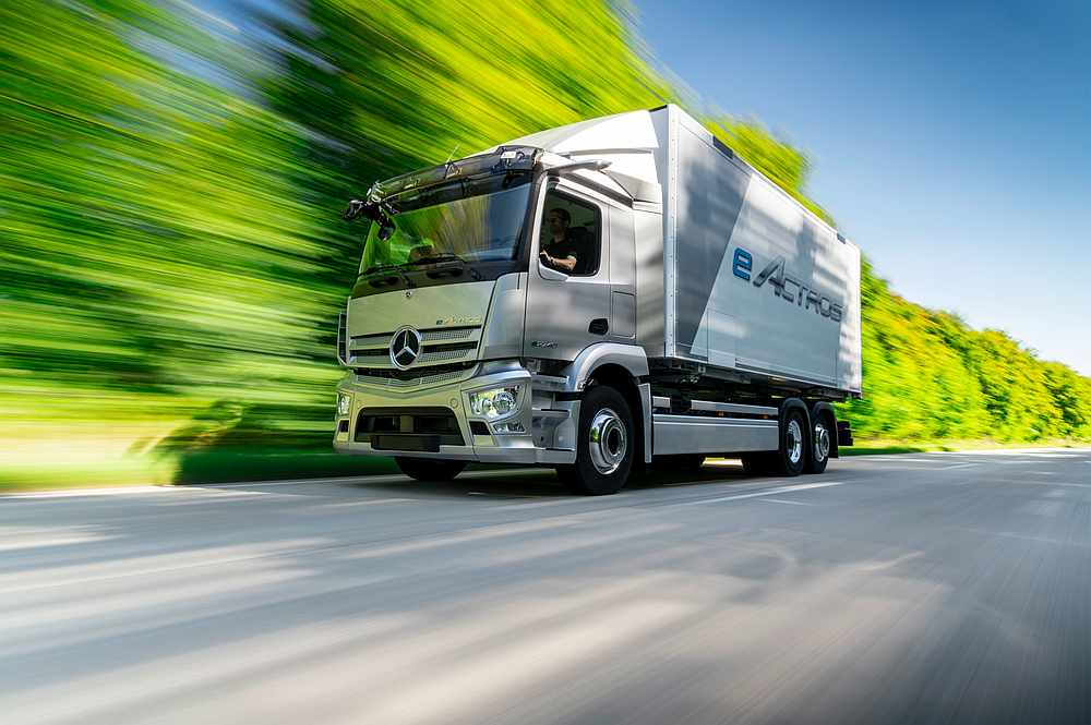 The all-electric Mercedes eActros is expected to be on the roads in 2021. Picture cCourtesy of Daimler via AFP