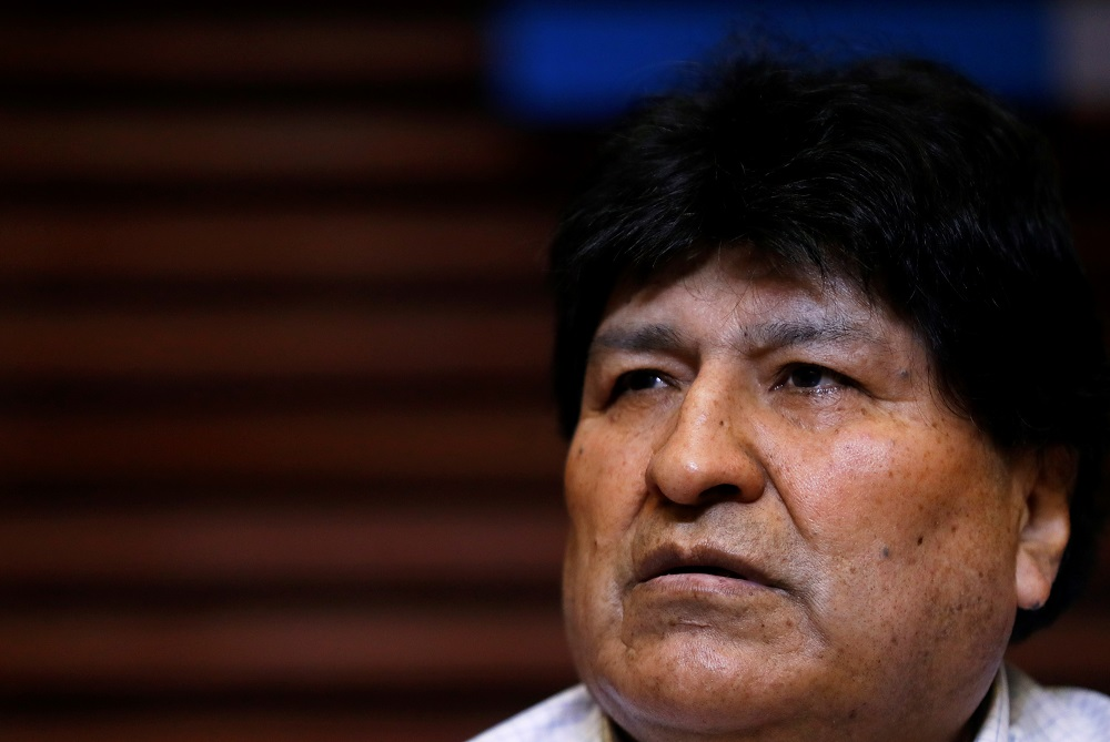 Former Bolivian President Evo Morales attends a news conference in Buenos Aires, Argentina October 22, 2020. ― Reuters pic