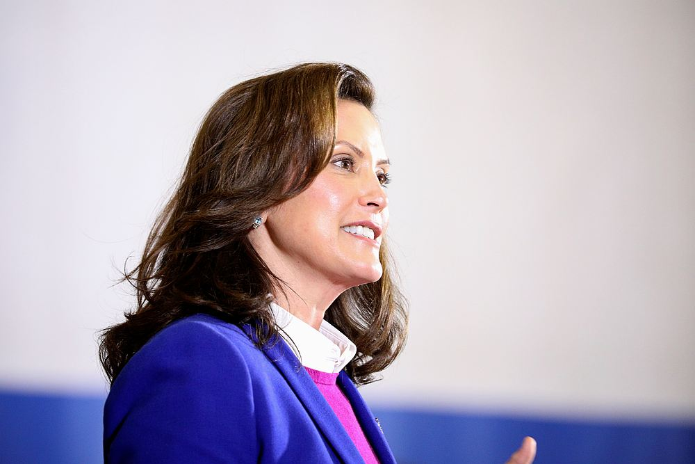 Michigan Governor Gretchen Whitmer speaks during a US Democratic campaign event at the Beech Woods Recreation Centre in Southfield, Michigan October 16, 2020. — Reuters pic