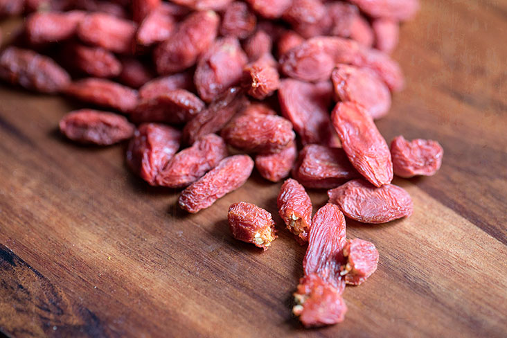 Goji berries are rich in antioxidants that protect our eyes.