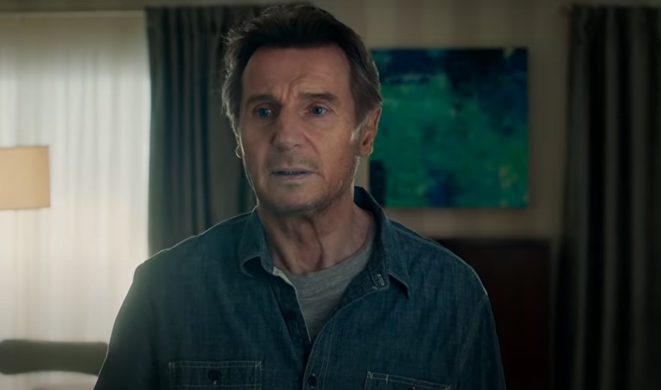 Liam Neeson in this screengrab from the official trailer of 'Honest Thief' on YouTube.