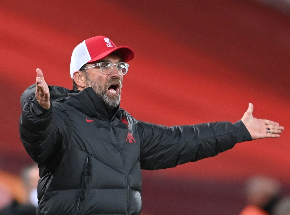 Klopp's side have already seen Sadio Mane and Thiago Alcantara briefly sidelined by Covid-19 this season, while a host of injuries have also taken their toll. ― Pool via Reuters