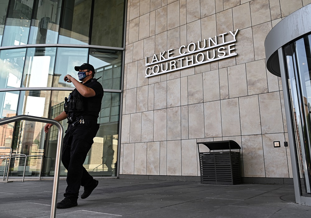 A view outside the Lake County Courthouse is seen following the Kenosha, Wisconsin shooting of protesters, in Waukegan, Illinois August 26, 2020. ― Reuters file pic