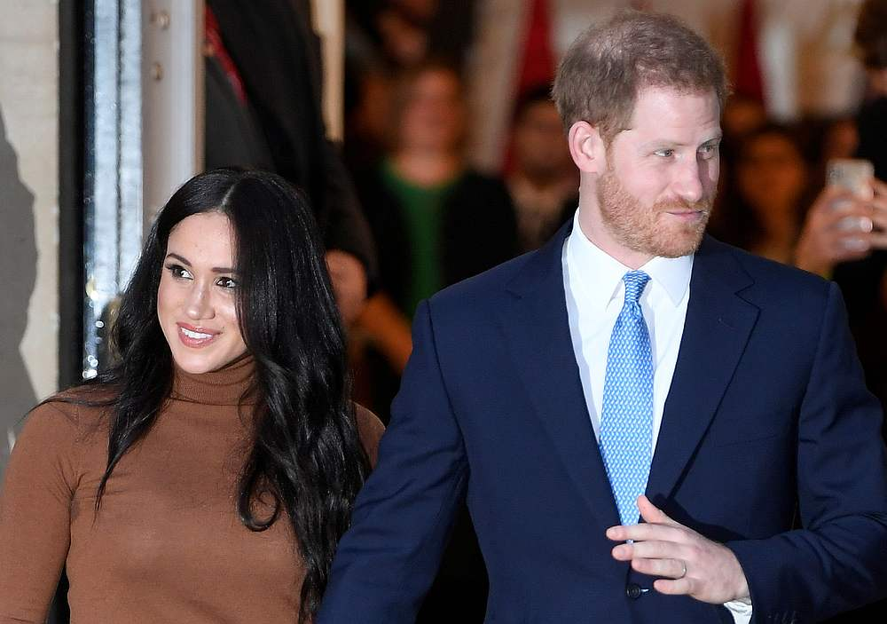 Britain's Prince Harry and his wife Meghan, Duchess of Sussex, leave Canada House in London, Britain January 7, 2020. — Reuters pic