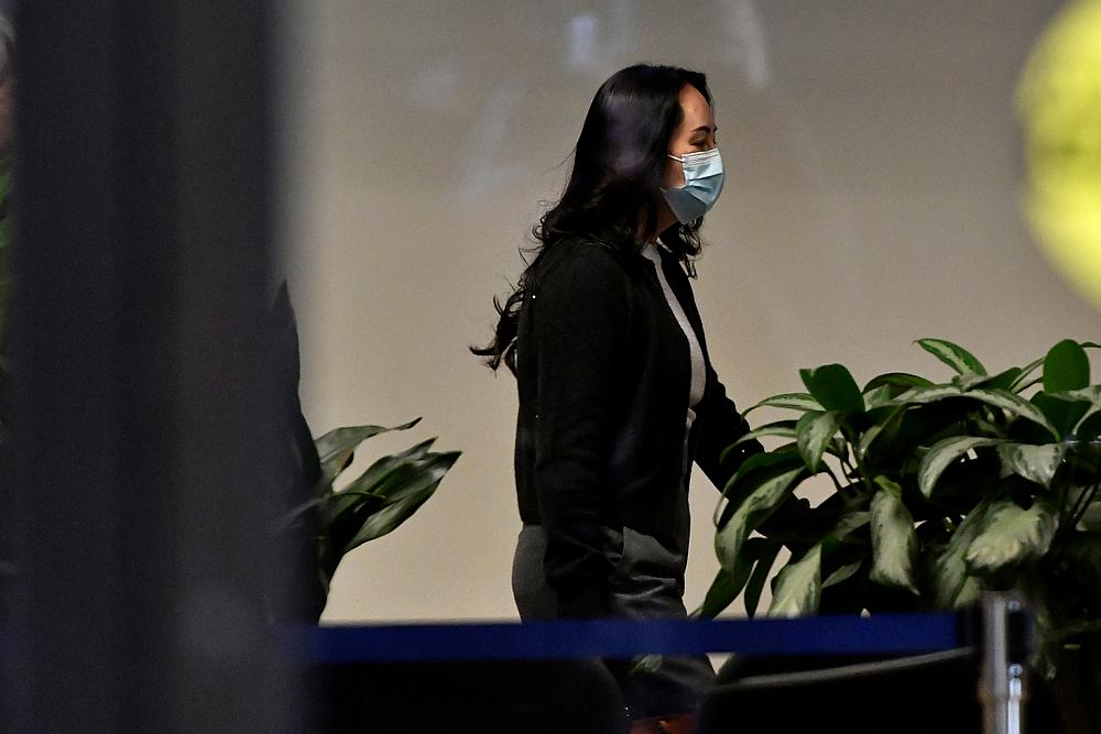 Huawei Technologies Chief Financial Officer Meng Wanzhou leaves court during a lunch break in Vancouver, British Columbia, Canada October 26, 2020. — Reuters pic