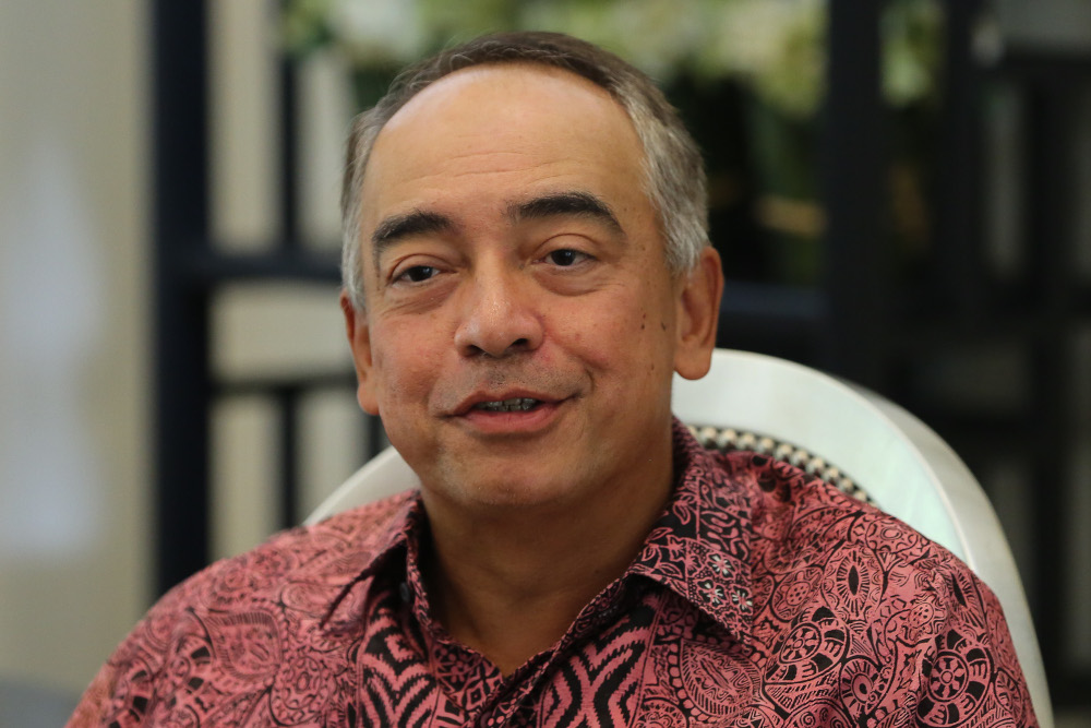 Datuk Seri Nazir Razak said he believes it is time for a 'national reset'. — Picture by Yusof Mat Isa