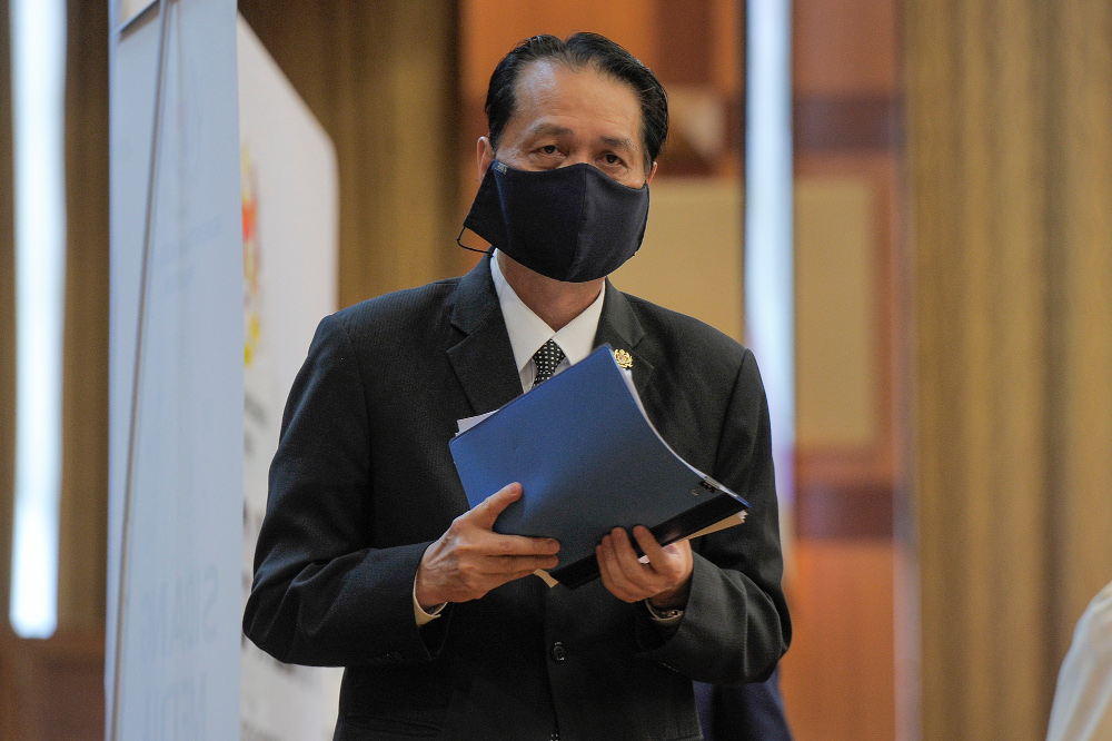 Health director-general Tan Sri Dr Noor Hisham Abdullah during a press conference at the Ministry of Health in Putrajaya October 2, 2020. — Picture by Shafwan Zaidon