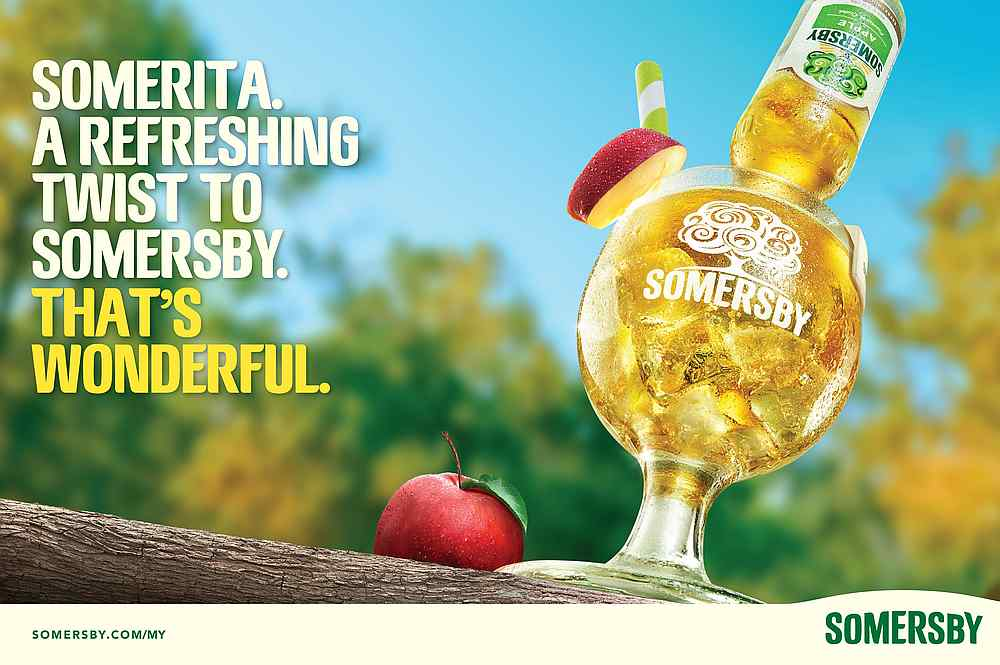 The Somerita is back as well to celebrate Apple Day. — Picture courtesy of Carlsberg Malaysia