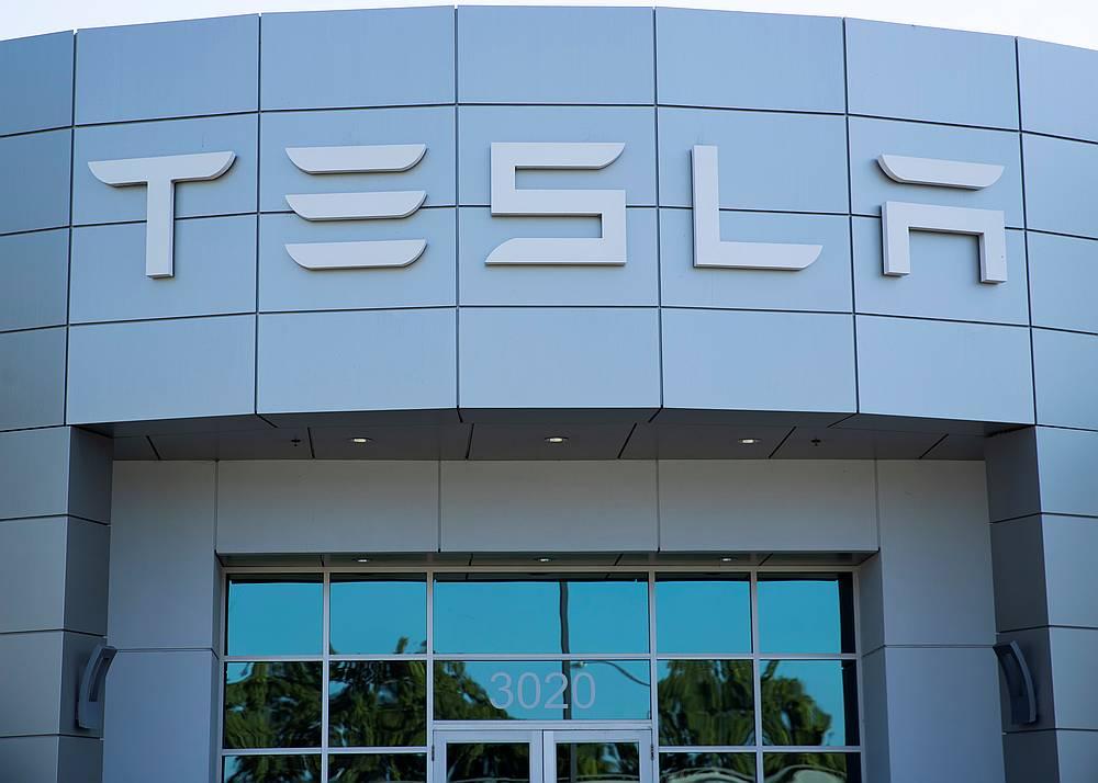 A Tesla service centre in Costa Mesa, California October 20, 2020. — Reuters pic