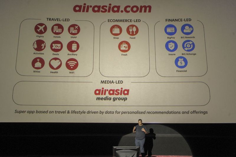 The AirAsia super app aims to be a one-stop platform for its users, offering a variety of products and services. — Picture by Shafwan Zaidon