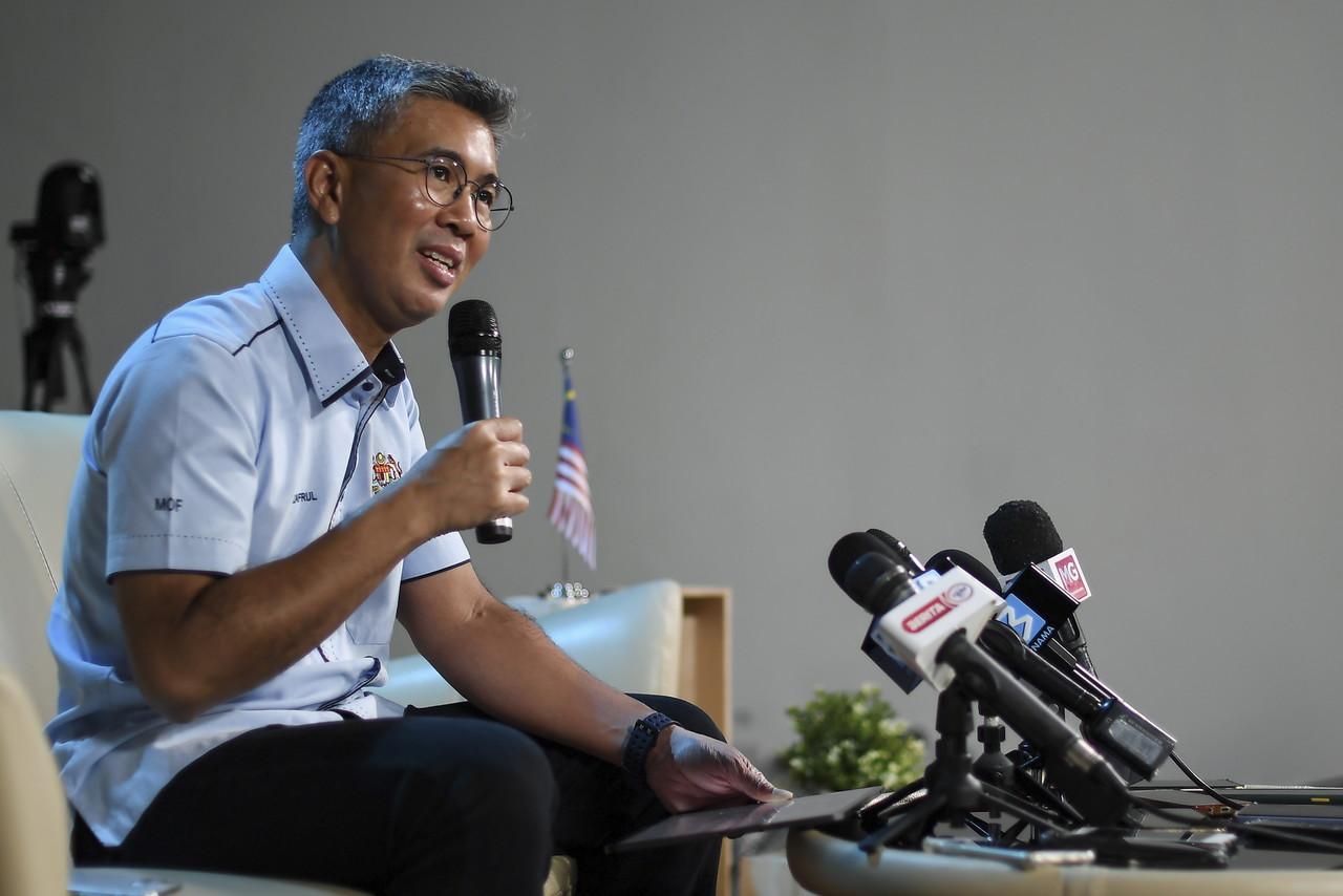 Finance Minister Tengku Datuk Seri Zafrul Abdul Aziz during press conference on Budget 2021 at Wisma Bernama, November 14, 2020. — Bernama pic