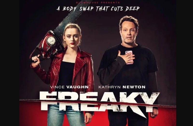 'Freaky', a body-swap horror movie, stars Vince Vaughn and Kathryn Newton. — Picture courtesy of Universal Pictures