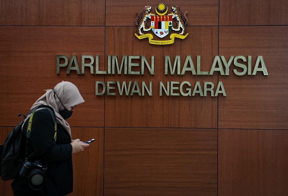 A general view of the Parliament lobby in Kuala Lumpur November 2, 2020. — Bernama pic