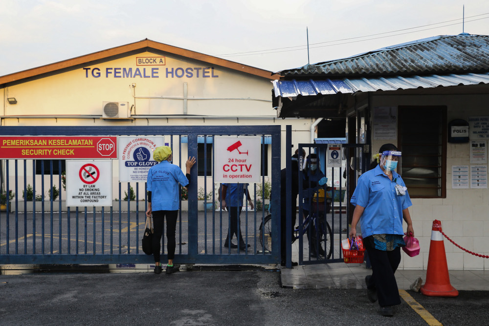 A general view of Top Glove Corporation Berhad's female staff dormitories in Klang November 16, 2020. — Picture by Yusof Mat Isa