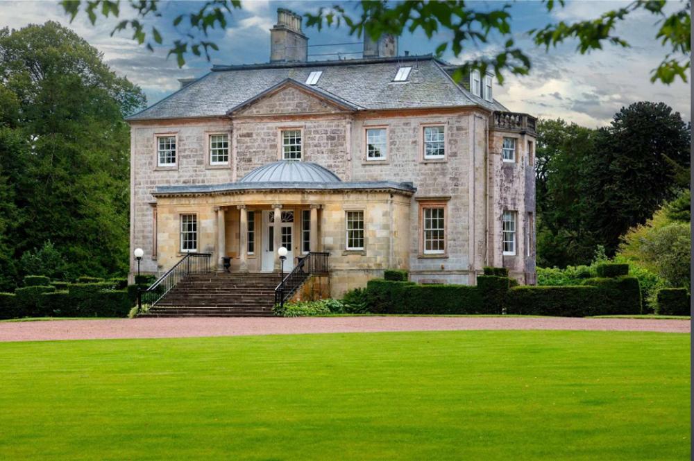 A view of Skeldon House, one of the three residences on Tan Sri Tony Fernandes' 18th-century Ayrshire estate in Scotland. — Screen capture via Savills.com