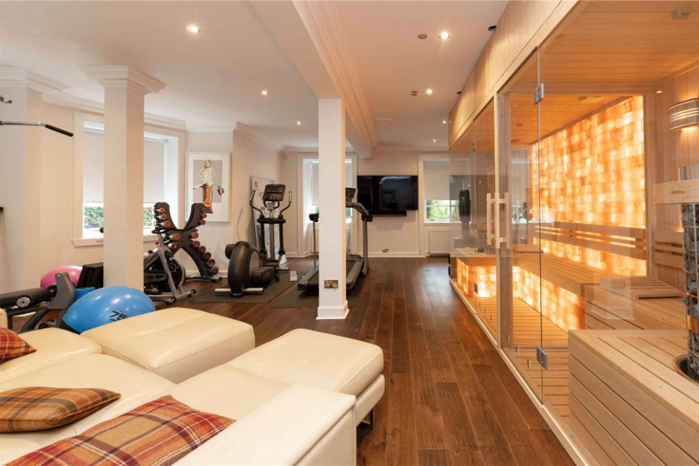 The gym suite at Skeldon House. — Screen capture via Savills.com