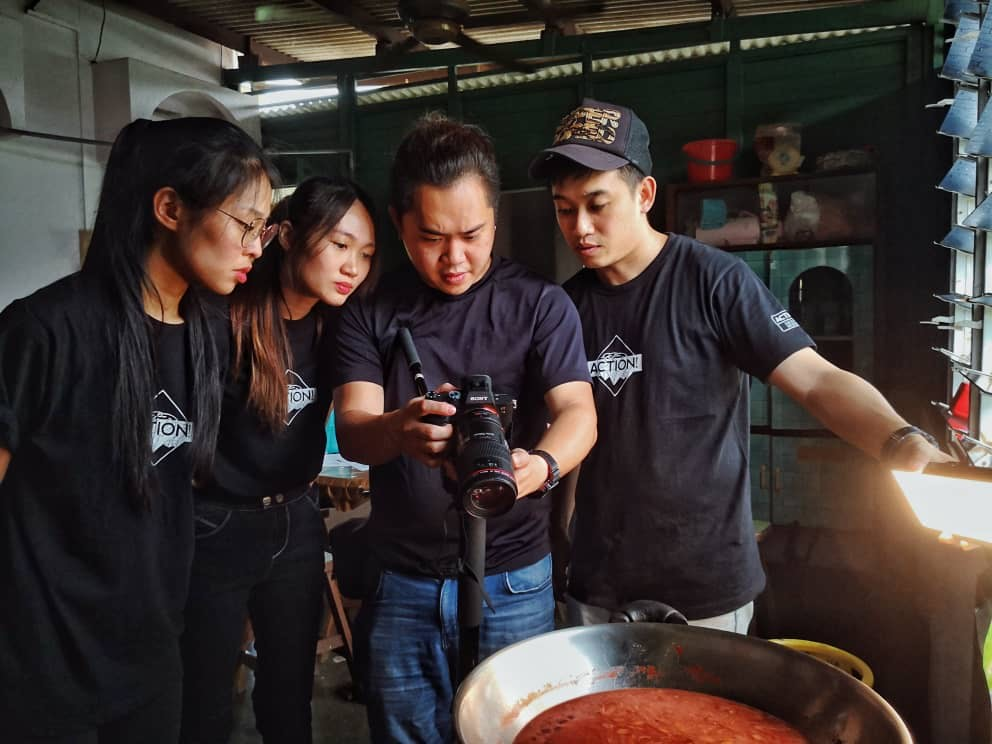 'Red Wine Chicken' production crew filming the documentary. – Picture courtesy of Universiti Tunku Abdul Rahman
