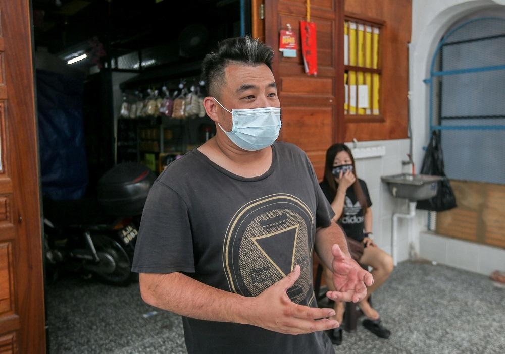 张先生希望CMCO不会再延长。-Farhan Najib摄-
