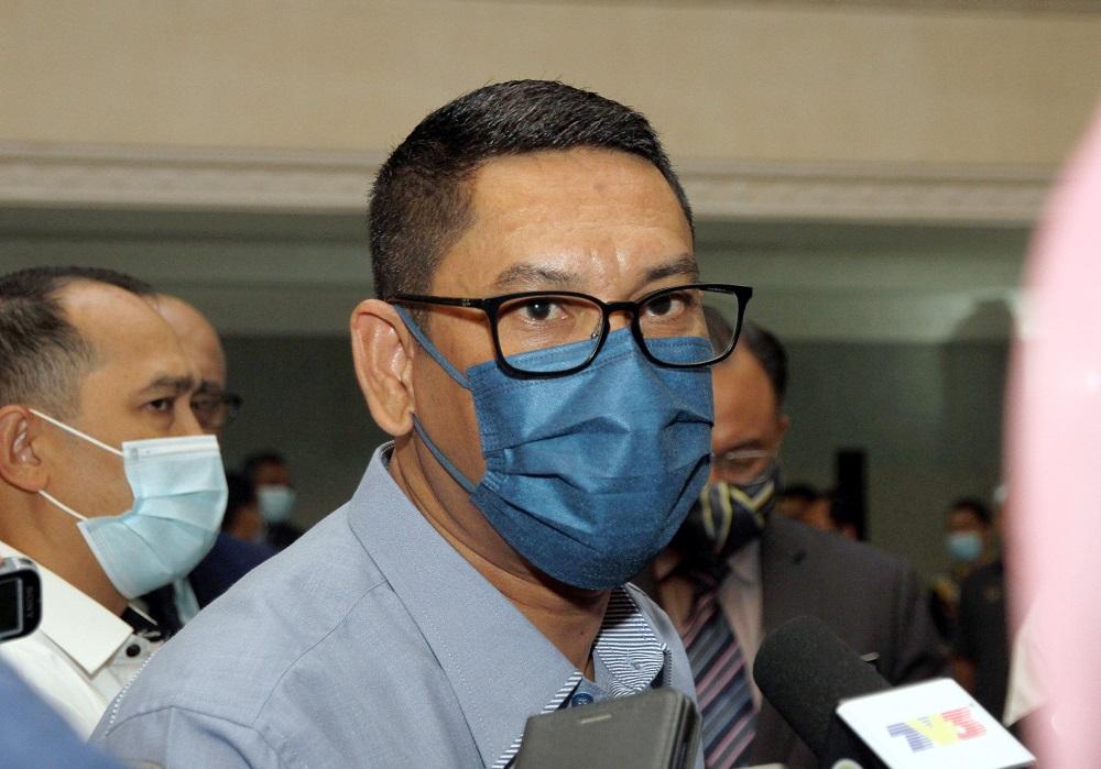 Datuk Seri Ahmad Faizal Azumu speaks to the press at the State Secretariat Building in Ipoh November 19, 2020. — Picture by Farhan Najib