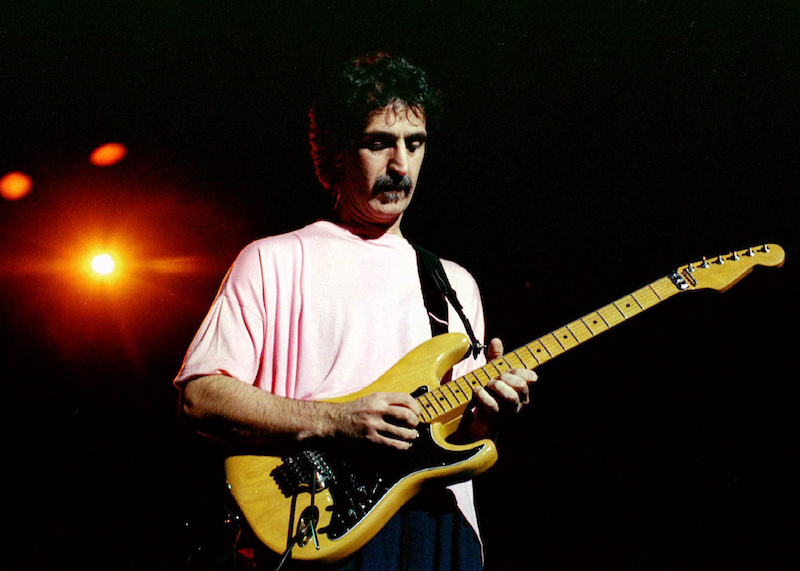 Rock musician Frank Zappa shown at Washington DC's Warner Theater in 1988. — Reuters file pic