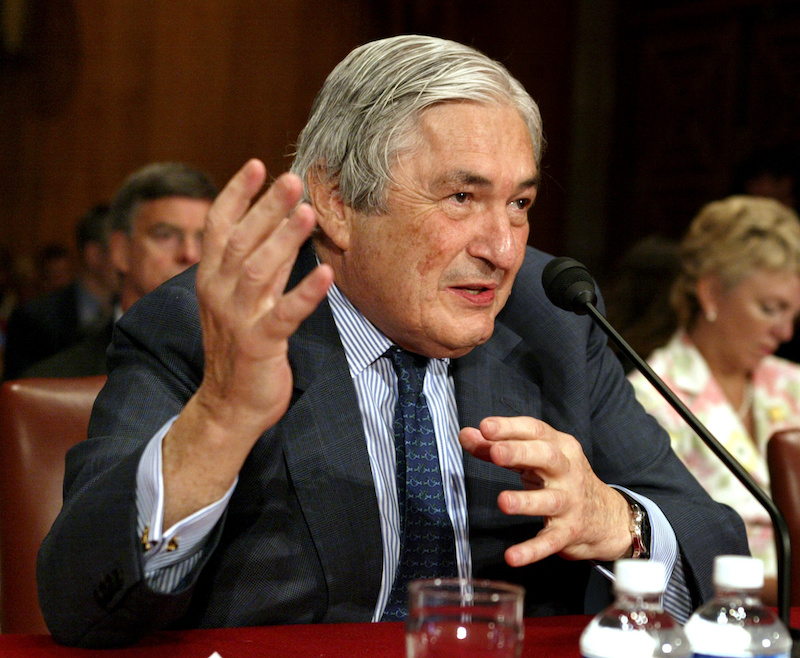 James Wolfensohn testifies before the Senate Foreign Relations Committee on Capitol Hill in Washington June 30, 2005. — Reuters file pic