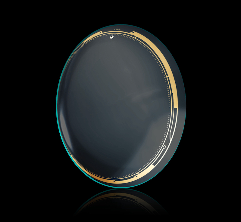 The smart lenses called iLens, presented by Lenstore, are full of high-tech promises. — Picture courtesy of Lenstore