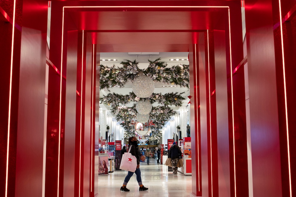 People visit Macy's Herald Square during early opening for the Black Friday sales in Manhattan, New York November 27, 2020. — Reuters pic