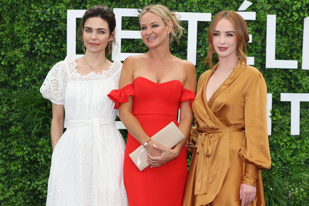 US actresses (from left) Amelia Heinle, Sharon Case and Camryn Grimes pose during a photocall for the TV soap opera 'The Young and the Restless' during the 59nd Monte-Carlo Television Festival in Monaco June 15, 2019. — AFP pic