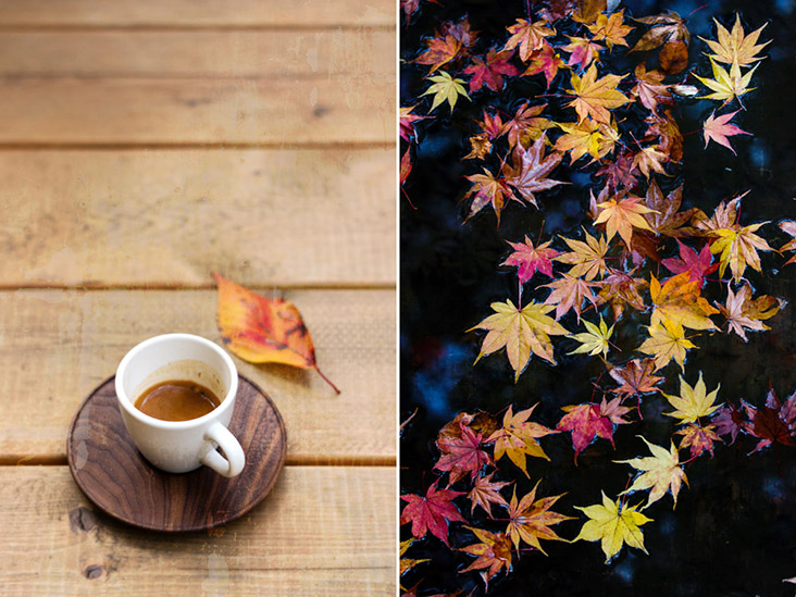 Enjoy autumn colours while sipping a cup of black coffee