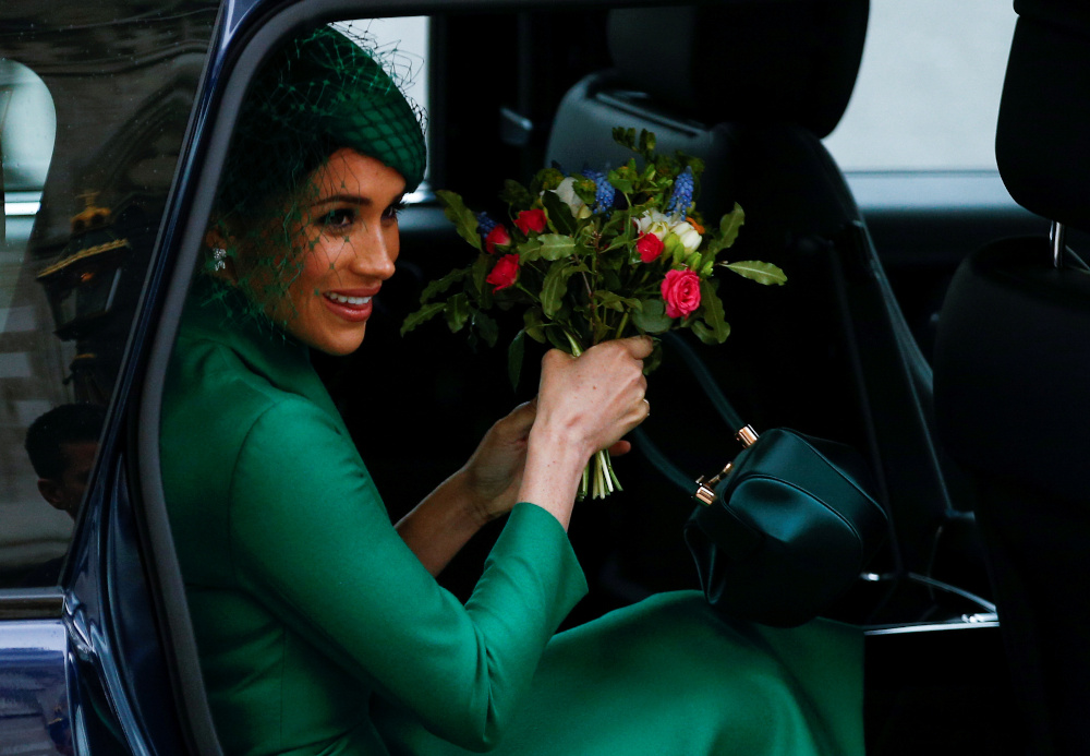 Meghan, 39, and husband Harry, 39, have rarely been off the front pages of Britain's newspapers in the last month, having announced they were expecting their second child, followed by news of their final split with the royal family, following their decision to move to California last year. — Reuters pic